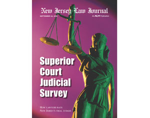 The New Jersey Law Journal Releases The 2012 New Jersey Superior Court Survey