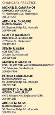 Geoffrey D Mueller Esq Named a 2017 Top Lawyer For Chancery Practice In Bergen County by 201 Magazine