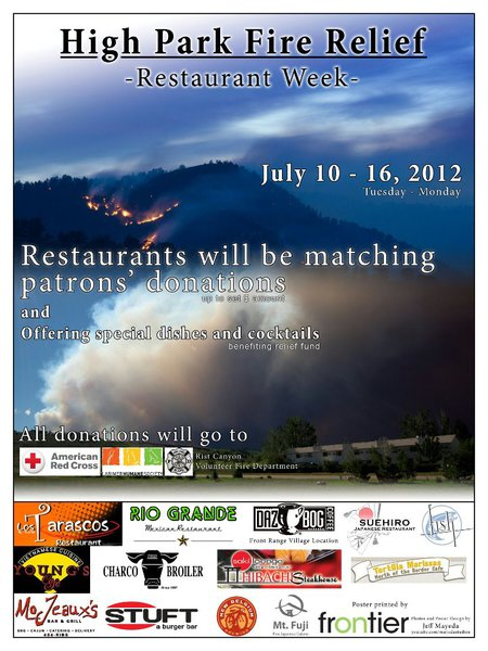 High Park Fire Relief Restaurant Week