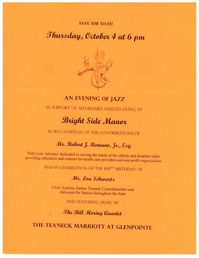 Bright Side Manor An Evening of Jazz - October 4 2012