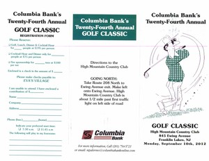 Columbia Bank039s 24th Annual Golf Classic - September 10 2012