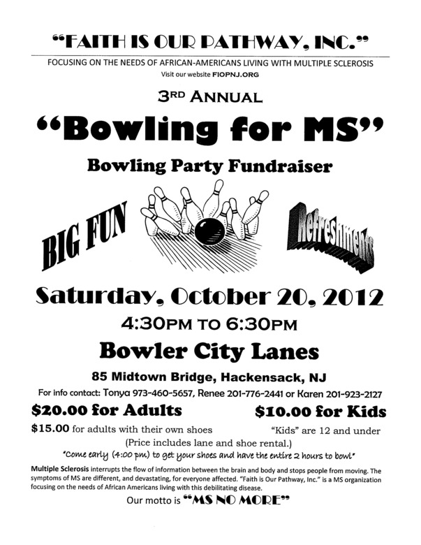 October 20 2012 - FIOP NJ - Bowling for MS