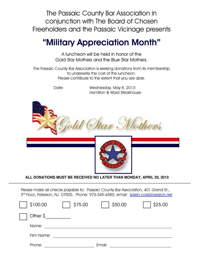 Military Appreciation Month  Honoring Gold Star Mothers and Blue Star Mothers